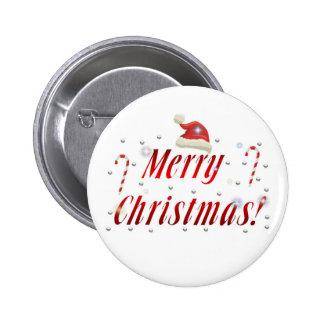 Merry Christmas Design Series Pinback Button