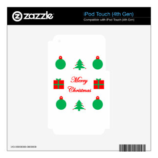 Merry Christmas Design Skins For iPod Touch 4G