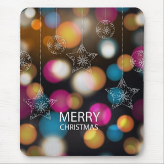 Merry Christmas design with colorful sparkles Mouse Pad