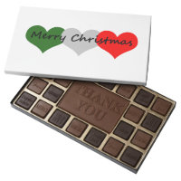 Merry Christmas Desserts 45 Piece Box Of Chocolates