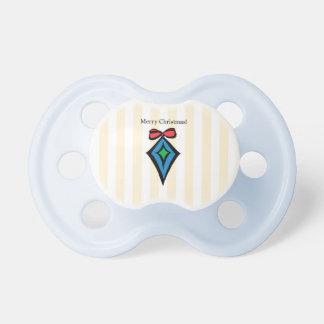 Merry Christmas Diamond Ornament Pacifier Yellow 2
