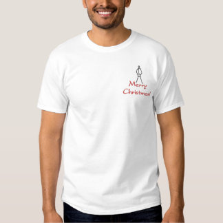 Merry Christmas dick in a box. Embroidered T-Shirt