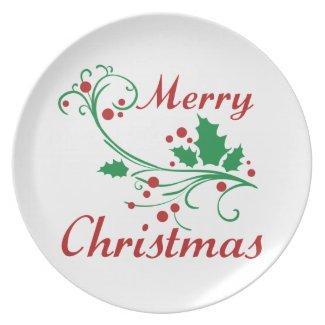 Merry Christmas Dinner Plate