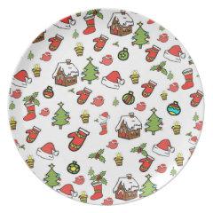 Merry Christmas Dinner Plates