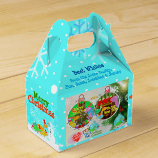 Merry Christmas Dinosaurs Tree Ornament Papercraft Party Favor Box