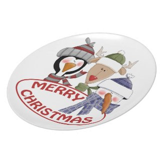 Merry Christmas Dish Party Plates