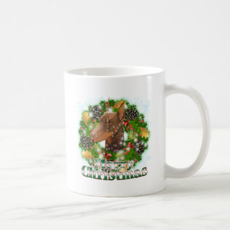 Merry Christmas Doberman Classic White Coffee Mug