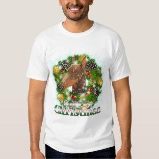 Merry Christmas Doberman T-shirt