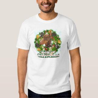 Merry Christmas Doberman Tee Shirt