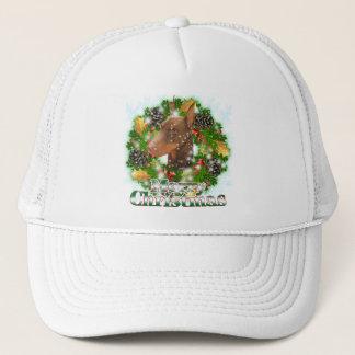 Merry Christmas Doberman Trucker Hat