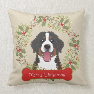 Merry Christmas Dog Breed Throw Pillow