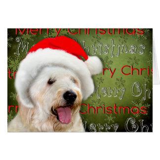 Merry Christmas - Dog in Santa Hat Greeting Card