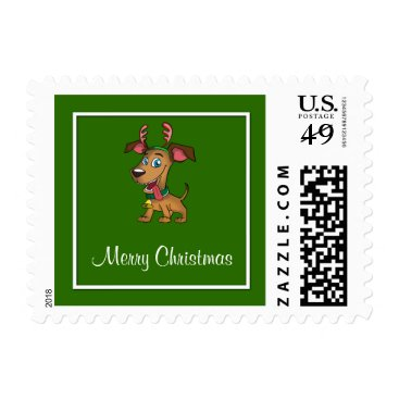 Aztec Themed Merry Christmas Doggie Postage