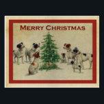 """Merry Christmas dogs Postcard<br><div class=""""desc"""">Merry Christmas dogs</div>"""