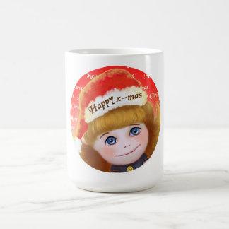 Merry Christmas Doll blue eyes Christmas Mug