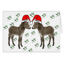 Merry Christmas, Donkey Christmas Card