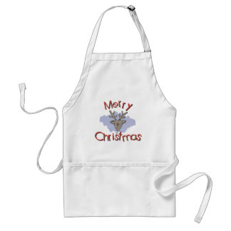 Merry Christmas Doodle Adult Apron