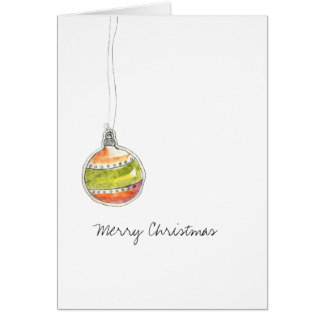 merry christmas doodle card