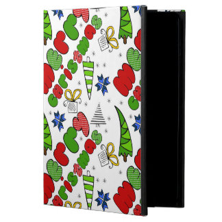 """Merry Christmas"" doodle kid's drawning style Cover For iPad Air"