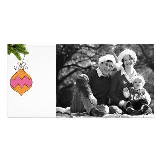 merry christmas doodle photo card