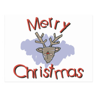 Merry Christmas Doodle Postcard