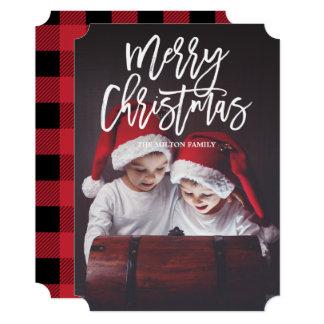 MERRY CHRISTMAS Double-Sided Photo Christmas Card