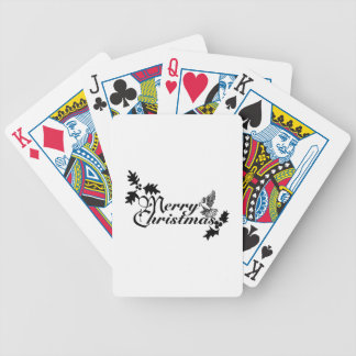 Merry Christmas Dove Bicycle Poker Deck