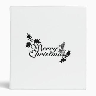 Merry Christmas Dove Vinyl Binders