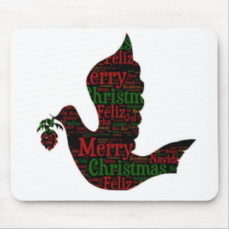 Merry Christmas Dove Mouse Pad