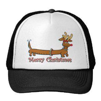 Merry Christmas Doxie Trucker Hat