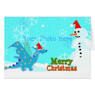 Merry Christmas Dragon Greeting Card