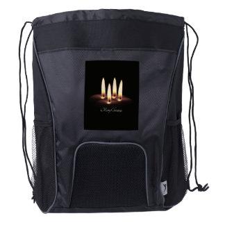 Merry Christmas Drawstring Backpack