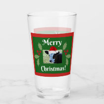 Merry Christmas Drinking Glass
