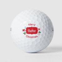 Merry Christmas Duffer Funny Golf Balls