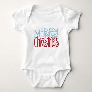 Merry Christmas dusk blue Baby T-shirt