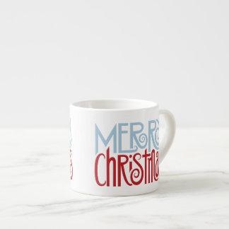 Merry Christmas dusk blue Espresso Mug
