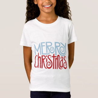 Merry Christmas dusk blue Kids T-shirt