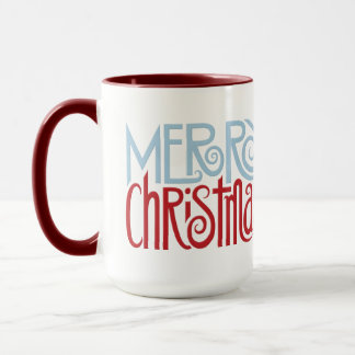 Merry Christmas dusk blue Mug