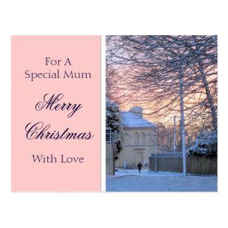 Merry Christmas - Early Morning Snow Postcard