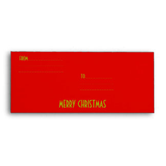 MERRY CHRISTMAS EARTH COLLECTIONS ENVELOPES