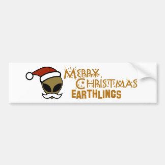Merry Christmas, Earthlings Car Bumper Sticker