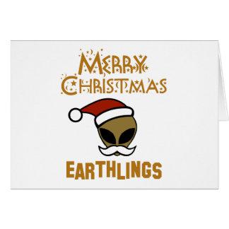 Merry Christmas, Earthlings Card