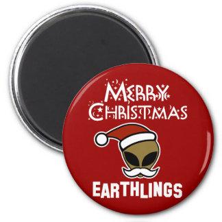 Merry Christmas, Earthlings Magnets