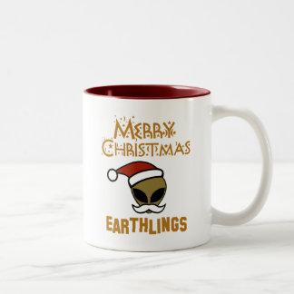 Merry Christmas, Earthlings Mugs