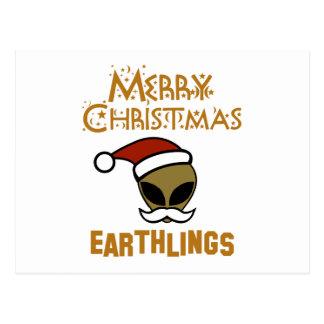 Merry Christmas, Earthlings Postcard
