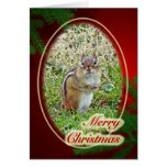 Merry Christmas Eastern Chipmunk Card
