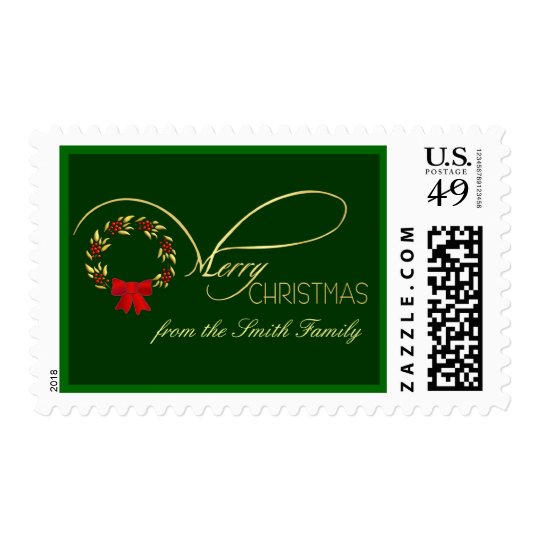 Merry Christmas - Elegant Personalized Postage