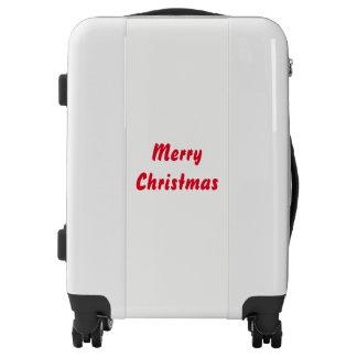 Merry Christmas Elegant Simple Red White Trendy Luggage