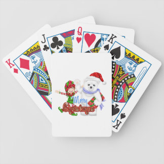 Merry Christmas Elf Bear Card Decks