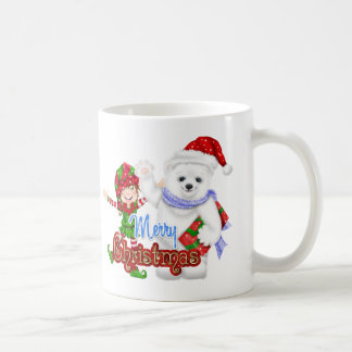 Merry Christmas Elf Bear Coffee Mug